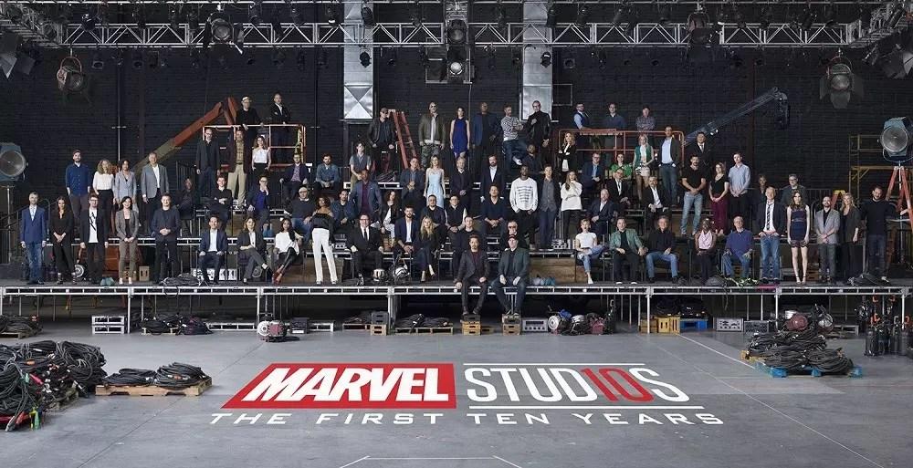Dieci anni di Marvel Studios: ecco l'epico photo shoot
