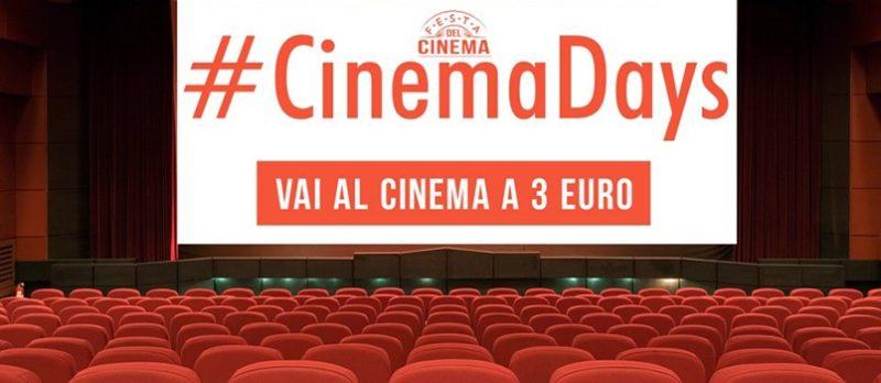 Annullate le date del CinemaDays di ottobre, se ne parla nel 2019