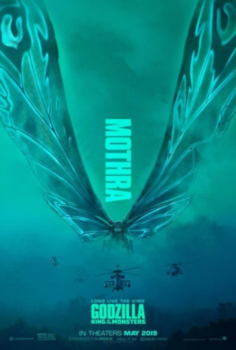 Mothra, Rodan e Ghidorah nei nuovi poster di Godzilla II: King of the Monsters