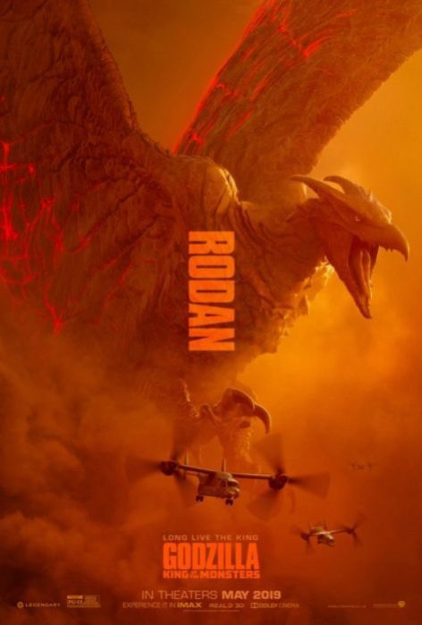 Mothra, Rodan e Ghidorah nei nuovi poster di Godzilla II: King of the Monsters