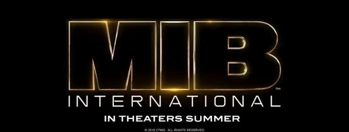 Logo ufficiale e foto da Men in Black International