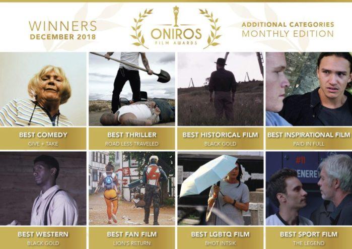 Oniros Film Awards - La nostra gallery dei vincitori del concorso Dicembre 2018