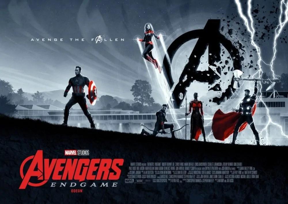 Doppio poster dittico per il cinecomic Avengers: Endgame