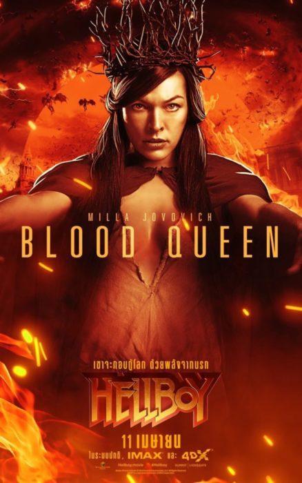 Anche Milla Jovovich nei characters poster di Hellboy