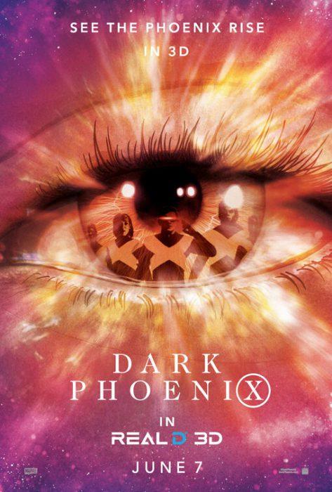 Per X-Men: Dark Phoenix poster IMAX e RealD 3D