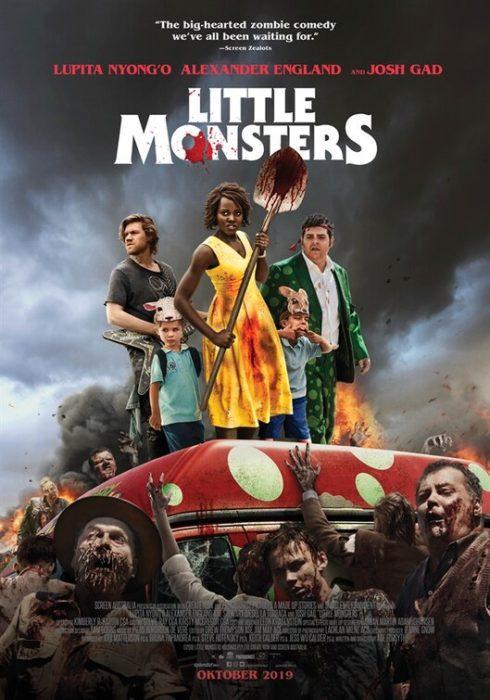 Una Lupita Nyong'o contro gli zombie nel poster di Little Monsters