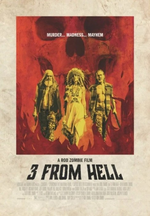 3 From Hell horror poster