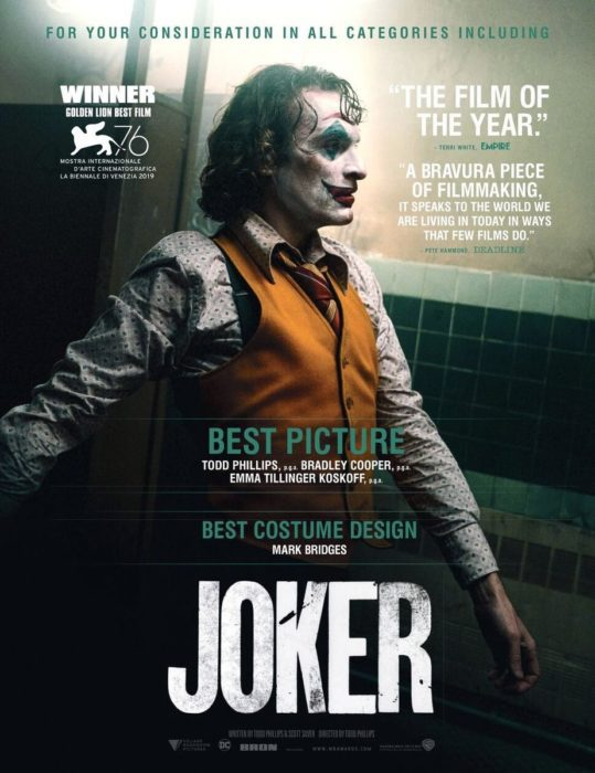 Joker: La campagna pro-Oscar parte con due poster