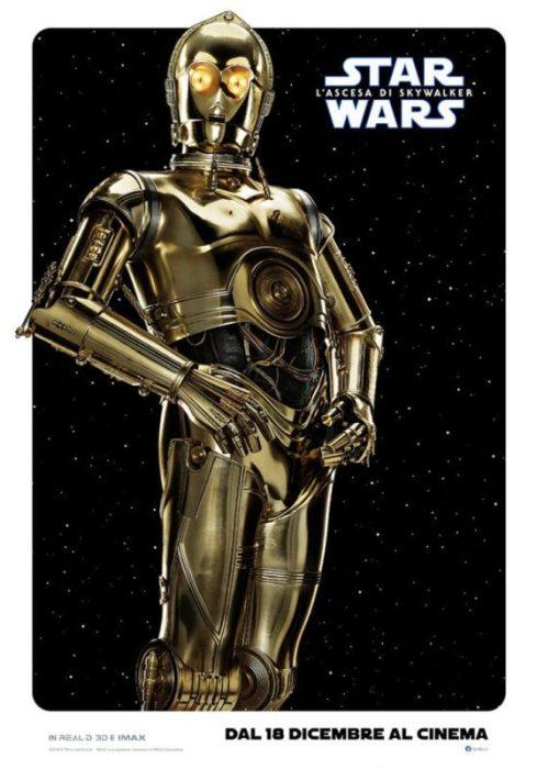 I protagonisti di Star Wars: L'ascesa di Skywalker nei characters poster italiani
