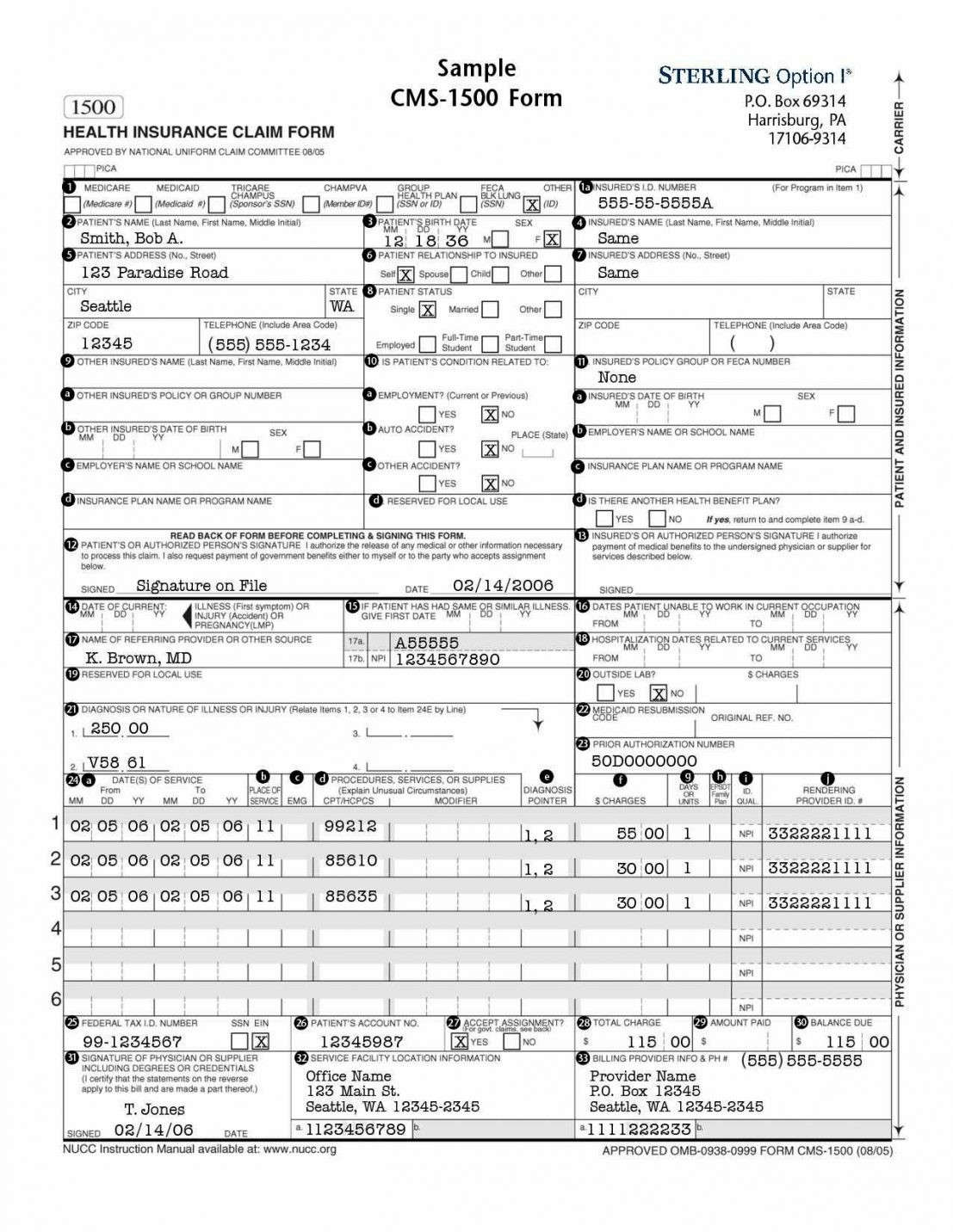 Hcfa Form Corrected Claim