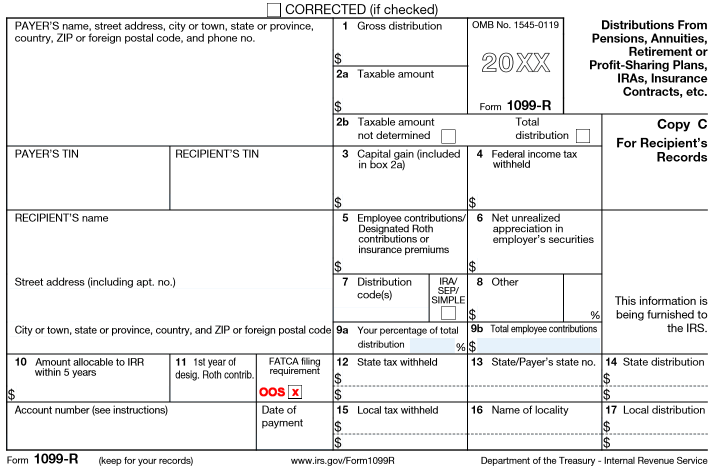 Irs Form R Corrected