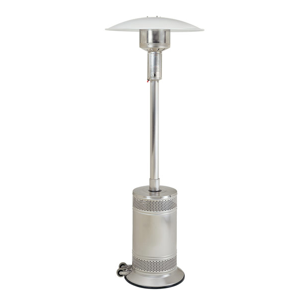 patio comfort model pc02ss infrared propane heater in stainless steel