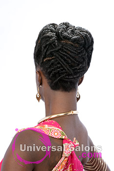 All Locked Up Faux Locs Updo Hairstyle from Deirdre Clay