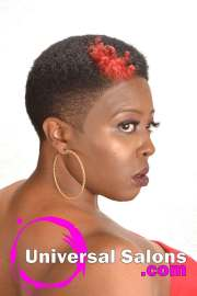 short natural hairstyle with hair