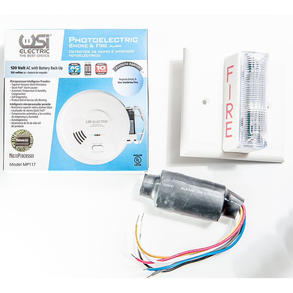 hight resolution of usi electric 2417 hardwired photoelectric smoke alarm strobe kit for hearing impaired