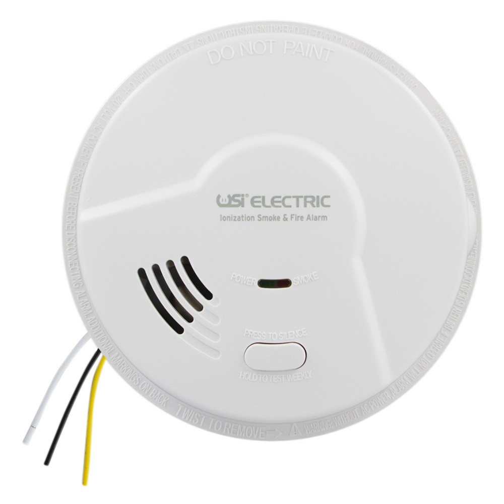 medium resolution of usi electric 5304 hardwired ionization smoke and fire alarm with battery backup