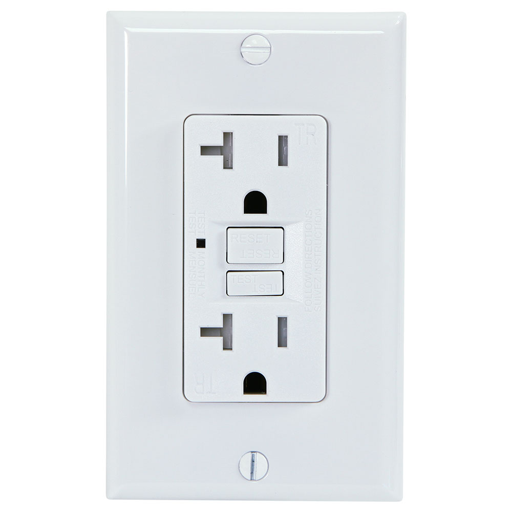 medium resolution of usi electric g1320trwh 20 amp gfci receptacle duplex outlet protection white