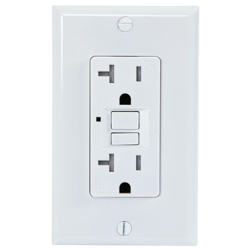 small resolution of usi electric g1320trwh 20 amp gfci receptacle duplex outlet protection white