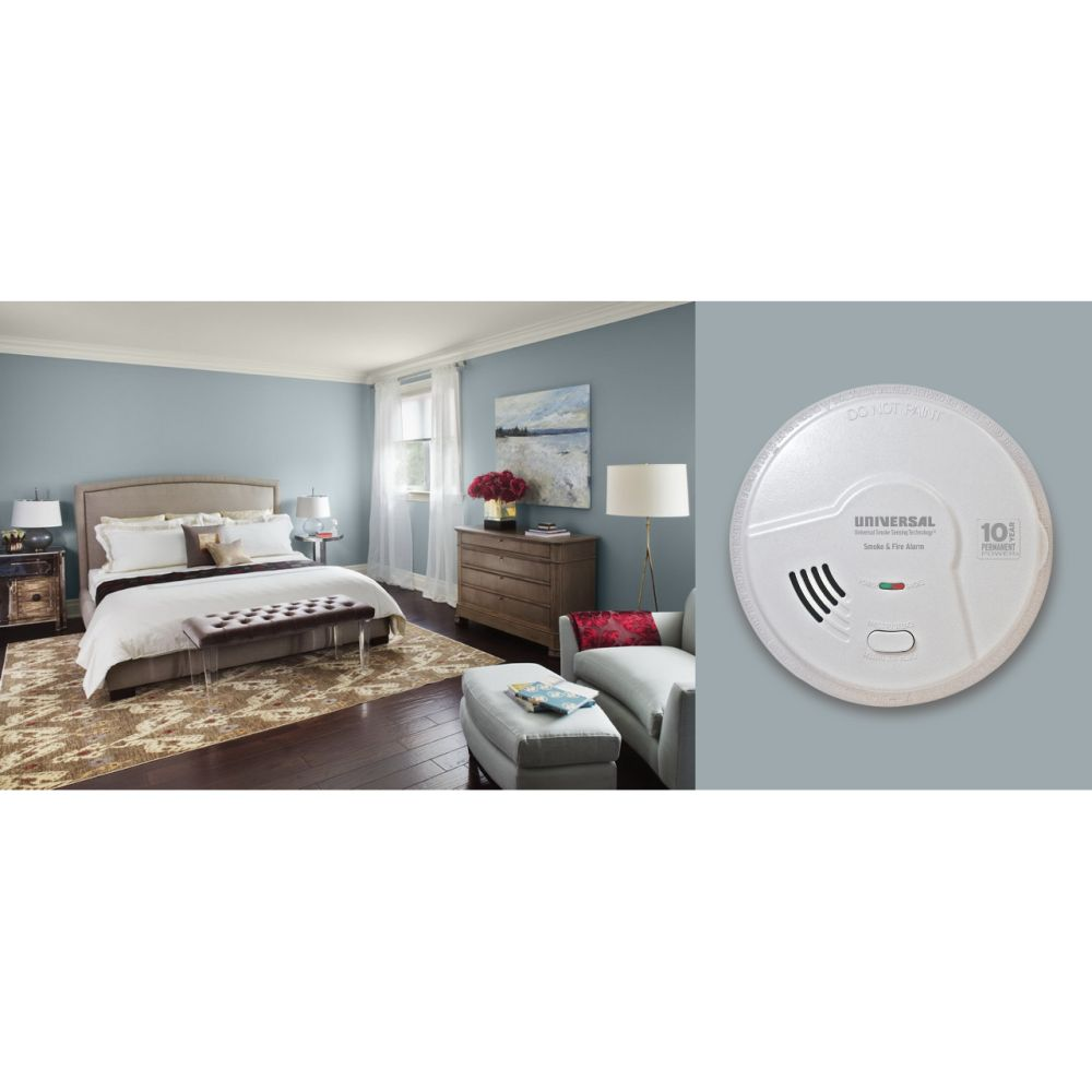 kitchen smoke detector and bathroom remodel universal security instruments mdsk300s 2 in 1 fire smart alarm with