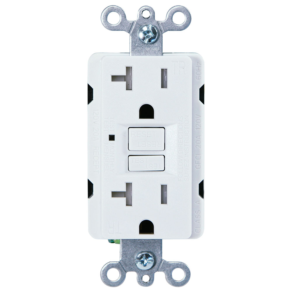 hight resolution of usi electric 20 amp self test gfci tamper resistant receptacle duplex outlet white