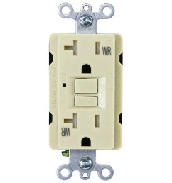 usi electric 20 amp self test gfci weather tamper resistant receptacle duplex outlet ivory [ 1000 x 1000 Pixel ]