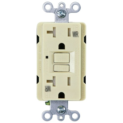 small resolution of usi electric 20 amp self test gfci weather tamper resistant receptacle duplex outlet ivory