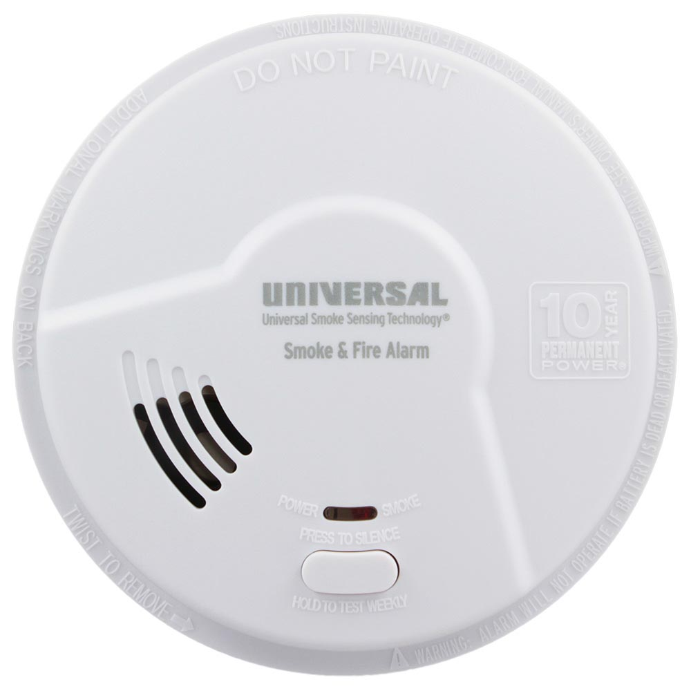 hight resolution of usi 10 year tamper proof sealed battery smoke fire smart alarm mdsk300s universal security store