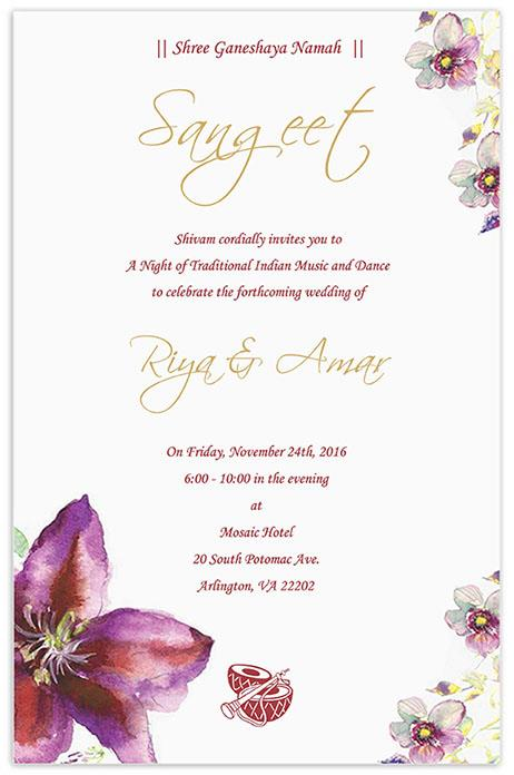 Invitation Card Sample
