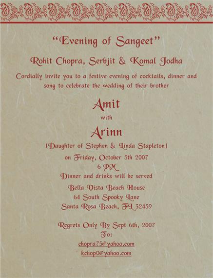 Sangeet Printed Samples