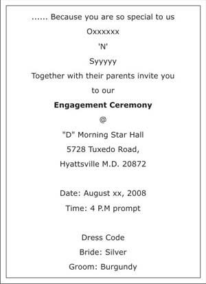 engagement invitation templates india