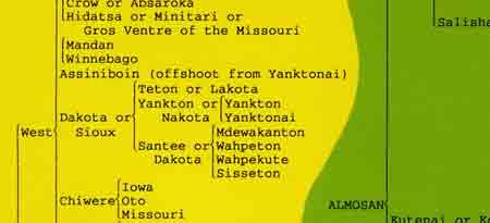 American Indian map excerpt