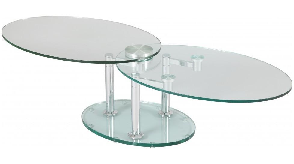 Table Basse De Salon Ovale En Verre Table Basse Design