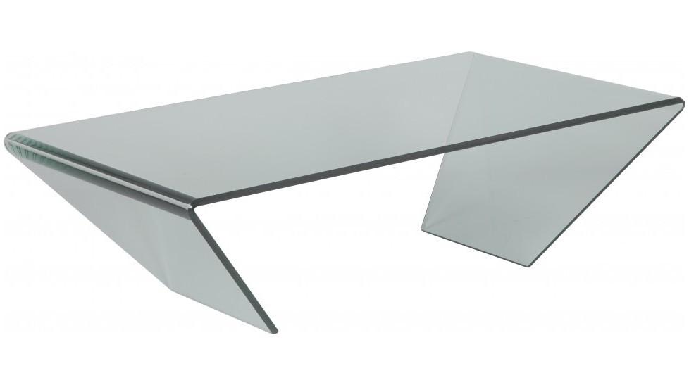 table basse design verre courbe