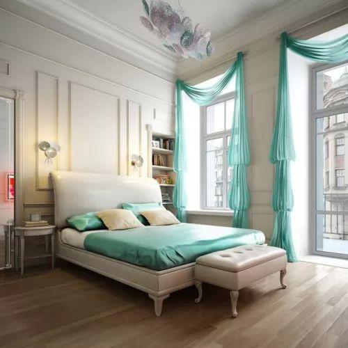 احدث ستائر غرف النوم  المودرن