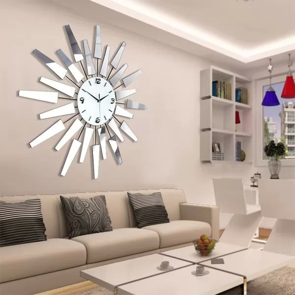 decorating ideas for big living room wall small space rooms ديكورات واشكال ساعات حائط مودرن - سحر الكون