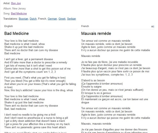 Find Lyrics In Your Target Language Of Almost Any Song