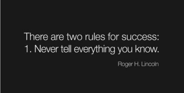 Two Rules Of Success
