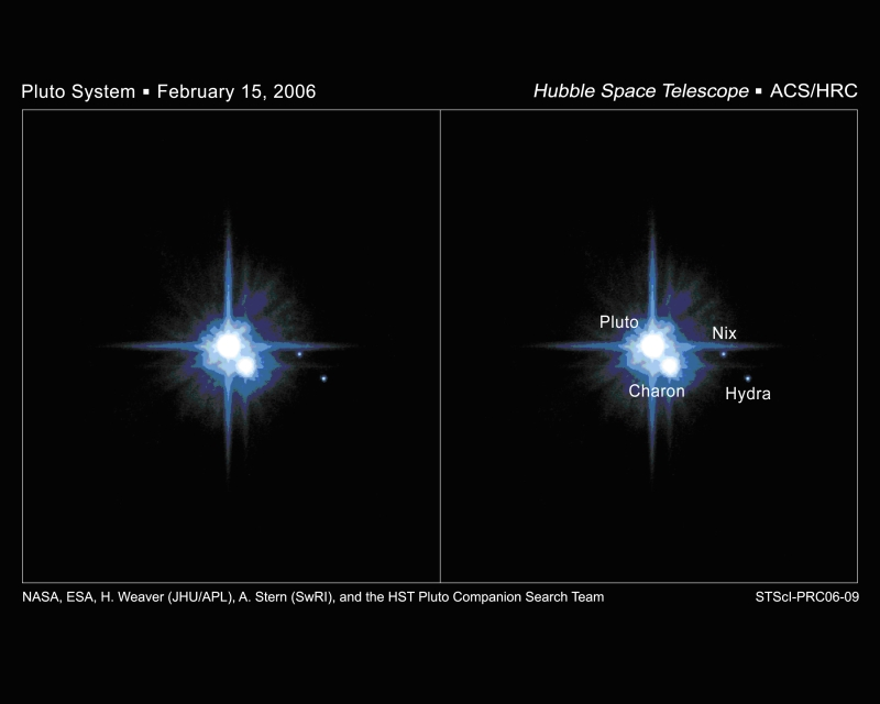 Pluto Moons Nix And Hydra S: Pluto's New Moons Are Named Nix And Hydra