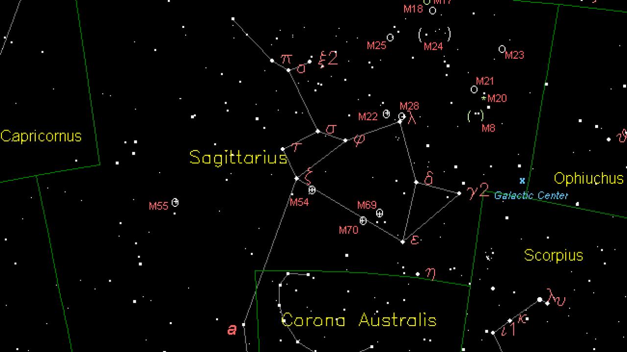 hight resolution of sagittarius
