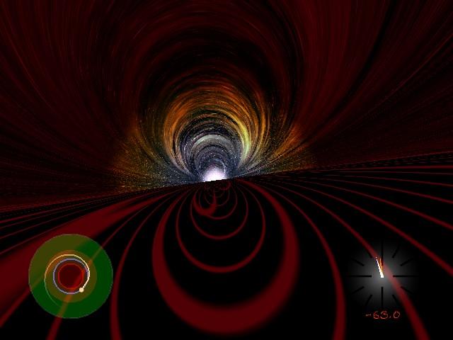 A visão de dentro de um buraco negro? Crédito: University of Colorado