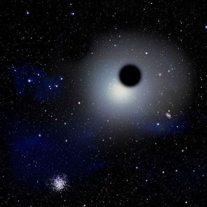 Image result for wandering black hole found in the outer regions of a galaxy