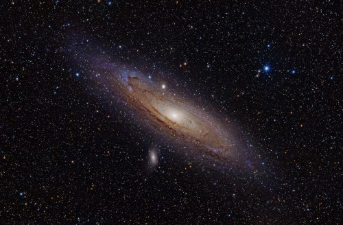 small resolution of andromeda shredded and consumed a massive galaxy about two billion years ago