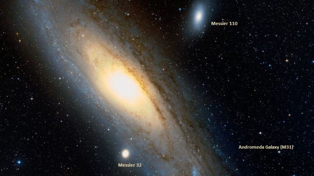 hight resolution of messier 31 observing andromeda m31