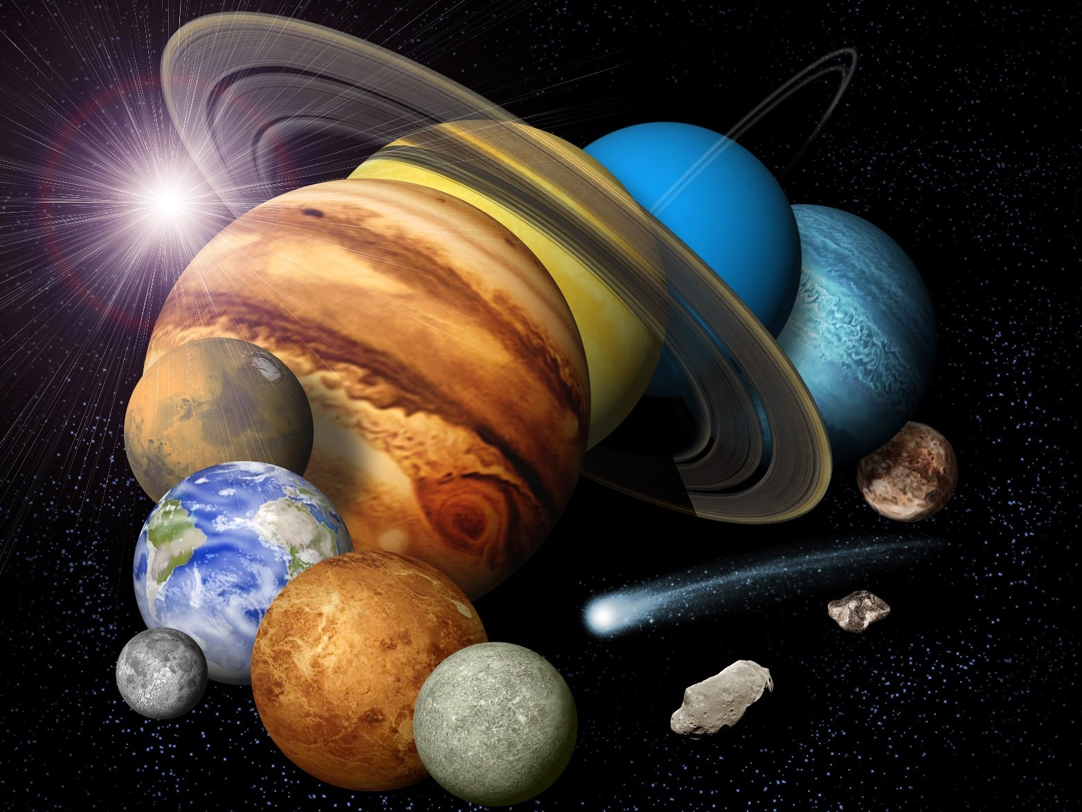hight resolution of how dense are the planets