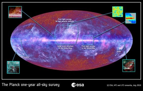 Planck, CMB, Big Bang, Via Lattea