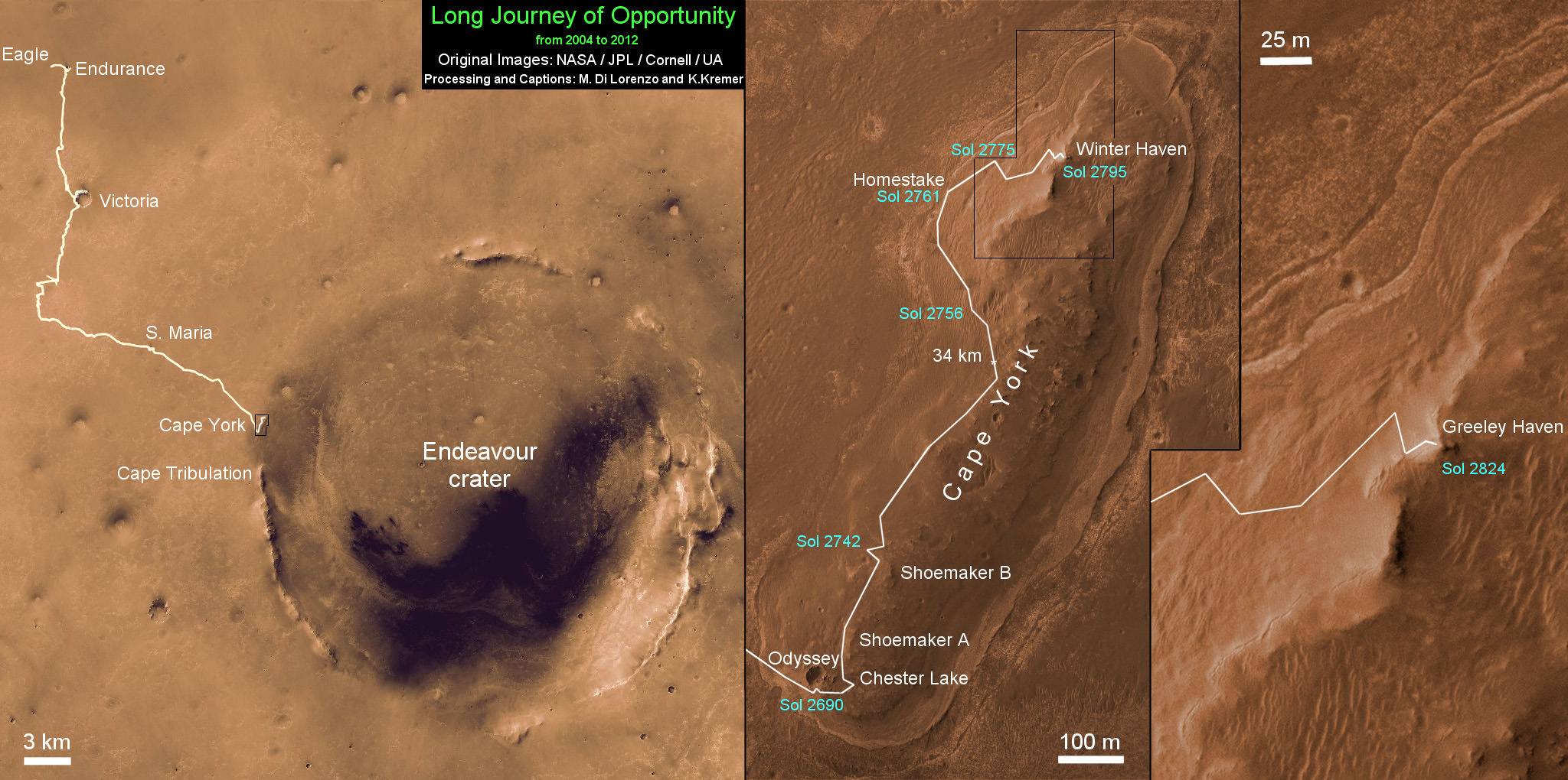 NASA s Resilient Rover Opportunity Begins Year 9 Mars with