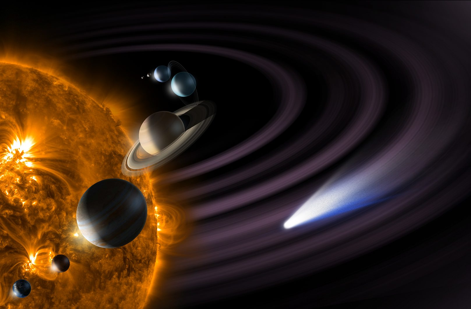 hight resolution of interesting facts about the solar system