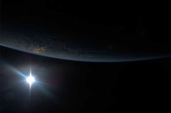 Stunning View of Earth and Orbital Sunset from the Space ...