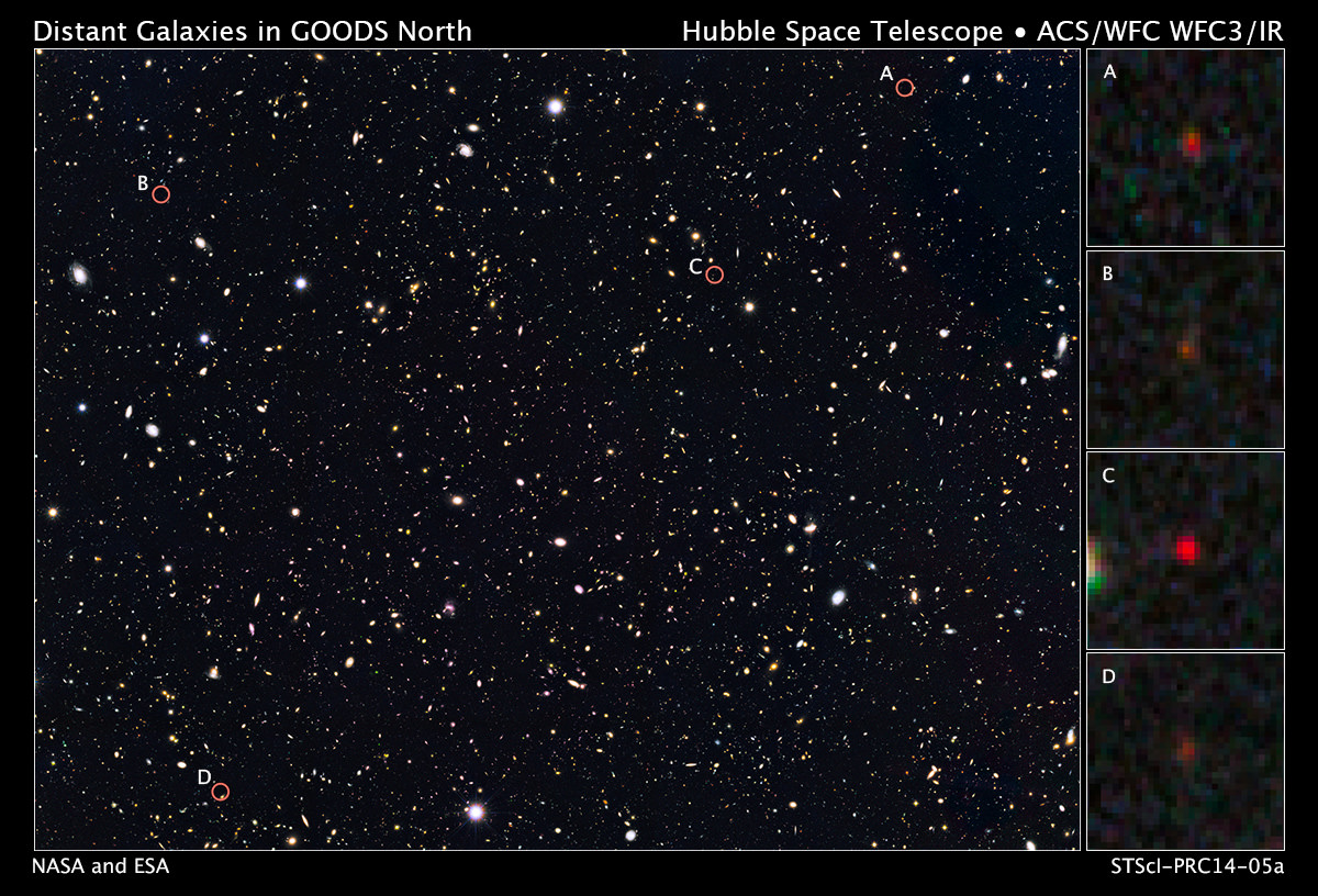 Space Telescopes Look Back 13.2 Billion Years and See ...