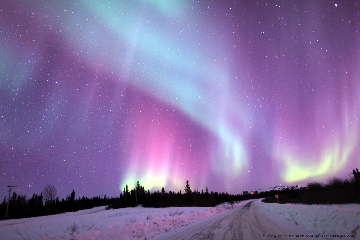 amazing aurora in alaska